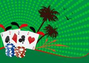 Poker and chips Stock Illustration