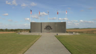 Stock Video Footage of The Australian Corps Memorial Park, Le Hamel, Somme, France.