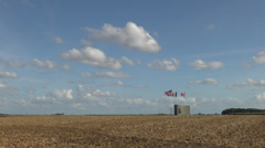 The Australian Corps Memorial Park, Le Hamel, Somme, France. Stock Footage