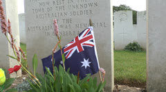 The CWGC Adelaide Cemetery, Villers-Bretonneux, Somme, Picardy, France. Stock Footage