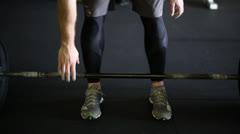 Lifting Weight Closeup Stock Footage