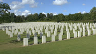 Stock Video Footage of The CWGC Adelaide Cemetery, Villers-Bretonneux, Somme, Picardy, France.