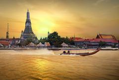 Wat arun in sunset Stock Photos