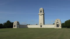 The Australian National Memorial, Villers–Bretonneux, Somme, France. Stock Footage