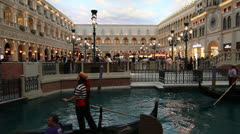 St Mark's Square (Grand Canal Shoppes) at The Venetian Hotel, Las Vegas Stock Footage