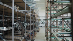 Agricultural warehouse of spare parts Stock Footage