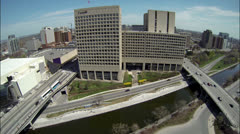 Ottawa Canada -The Nation's Capital from the Sky Stock Footage