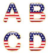 Patriotic abcd Stock Illustration