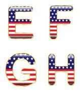 patriotic efgh - stock illustration