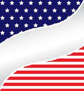Patriotic rip Stock Illustration