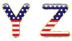 patriotic yz - stock illustration