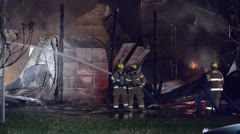 Firefighters at Scene 01 Stock Footage