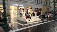 Stock Video Footage of Opera Perfrormance in St Mark's Square at The Venetian Hotel, Las Vegas