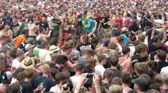 Euphoric Crowd Dance - stock footage