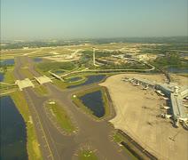 Aerial Orlando International Airport Stock Footage