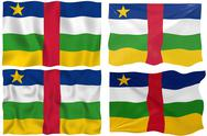 Stock Illustration of flag of central african republic
