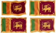 Stock Illustration of flag of sri lanka