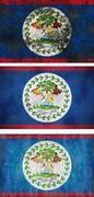 Flag of belize Stock Illustration