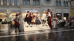 Opera Perfrormance in St Mark's Square at The Venetian Hotel, Las Vegas Stock Footage