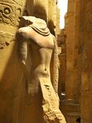 Stock Photo of luxor: beautiful statue at the great hypostyle hall, at the temple of karnak