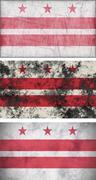 Flag of washington dc Stock Illustration