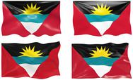 Stock Illustration of flag of antigua barbuda
