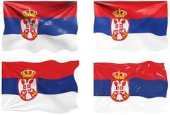 Stock Illustration of flag of serbia