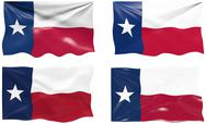 Flag of texas Stock Illustration
