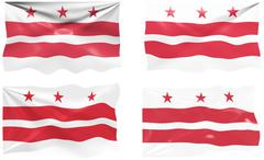 flag of washington dc - stock illustration