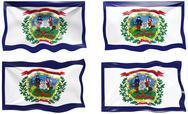 Stock Illustration of flag of west virginia