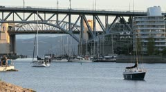 Bridges and Harbor Traffic, Vancouver Stock Footage