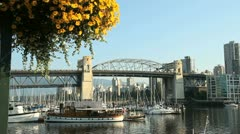 False Creek and Flower Basket, Vancouver Stock Footage