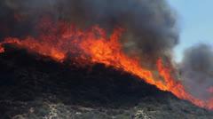 FIRE ON RIDGE - stock footage