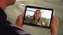 Video Chatting on Tablet PC Stock Footage