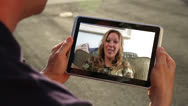 Stock Video Footage of Video Chatting on Tablet PC