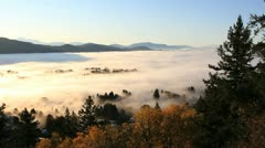 Fraser Valley Fog, British Columbia - stock footage