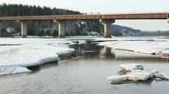 Highway Bridge, Prince George BC Stock Footage