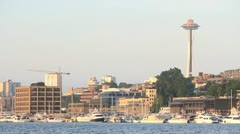 Lake Union Marina, Seattle Stock Footage