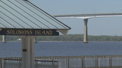 Solomons Island, MD Stock Footage