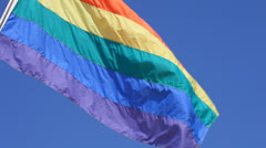 Gay pride flag Stock Footage