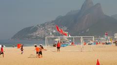 Stock Video Footage of Ipanema Beach Rio de Janeiro, Brazil.