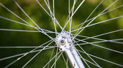 Bike tyre close up Stock Footage
