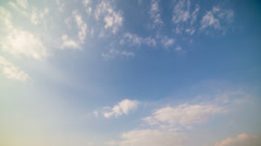 4k resolution Cloud and blue sky timelapse Stock Footage