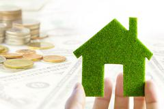 eco house icon energy concept - stock photo