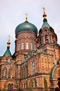 saint sofia russian orthordox church harbin china - stock photo