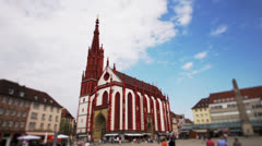 Time lapse church and marketplace Stock Footage