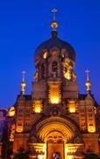saint sofia russian orthodox church harbin china - stock photo