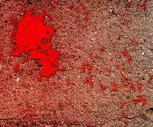 blood on grunge wall background - stock photo