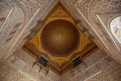Interior of royal alcazars of seville, spain Stock Photos
