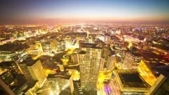 4k resolution Beijing City CBD sunset time lapse Stock Footage